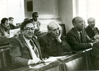 С Грантом Матевосяном, Москва, VIII съезд писателей СССР, 1988г.