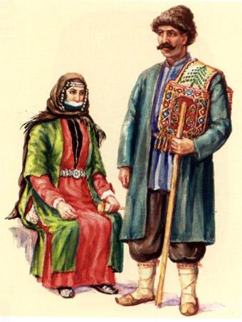 Армяне в национальной одежде