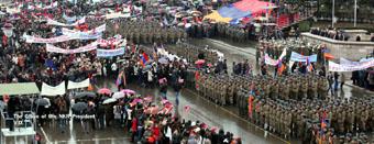 Военный парад в Степанакерте