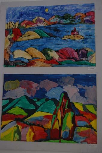выставка рисунков школьников