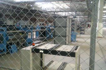 Значительная часть оборудования на заводе законсервирована.