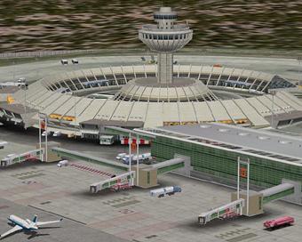 У комплекса одновременно могли готовиться к вылету или разгружаться 14 самолетов.