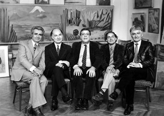 Эдвард Мирзоян с Арно Бабаджаняном и Левоном Чаушяном