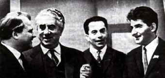 С Арамом Хачатуряном и Тихоном Хренниковым