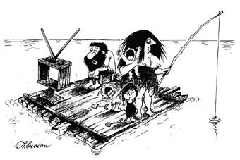 Порой персонажи его карикатур уродливы, ситуации кажутся невероятными.