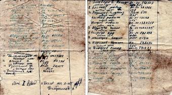 Cписки уничтоженных азербайджанских солдат, найденные у их погибших же командиров.