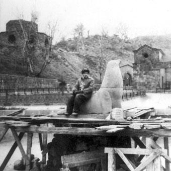 Морской лев. Ереванский зоопарк, 1953г.