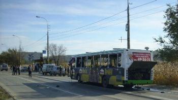 Автобус, взорванный террористкой-смертницей в Волгограде.