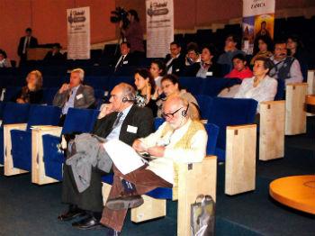 На конференции, посвященной армянскому культурному наследию в Румынии.