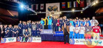 Церемония награждения призеров Кубка мира