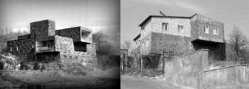 До. Построенное в 60-е годы здание Ереванской сейсмостанции (арх. Гурген Мушегян). После. А так оно выглядит с начала 90-х годов