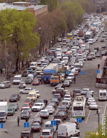 Пробки на улицах Еревана