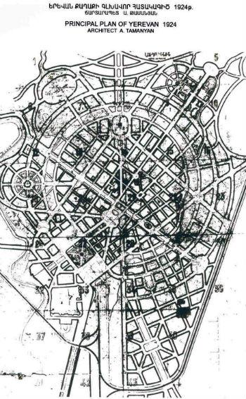 3 апреля 1924 года в час ночи Совнарком Армянской ССР утвердил генеральный план Еревана, представленный академиком бывшей Императорской академии художеств 46-летним архитектором Александром Таманяном