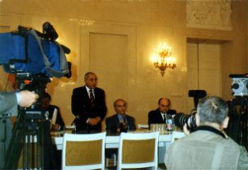 """Пресс-конференция в """"Белом зале"""" мэрии Москвы по поводу открытия МАКо"""