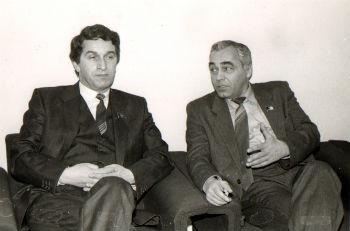 Первый президент Абхазии В.Г. Ардзинба и М. С. Минасбекян на первом съезде народных депутатов СССР