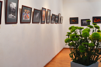 На выставке фотографий.