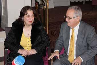 Аида Сафарян и Погос Манукян.