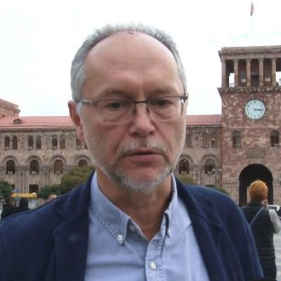 Известный архитектор, профессор Международной академии архитектуры в Москве, автор книги 'Иереван', большой друг Армении Андрей ИВАНОВ