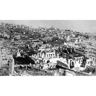 Руины армянского квартала Шуши после антиармянских погромов в 1920 г.