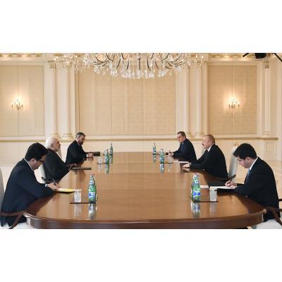 Мохаммад Джавад Зариф на встрече с Ильхамом Алиевым