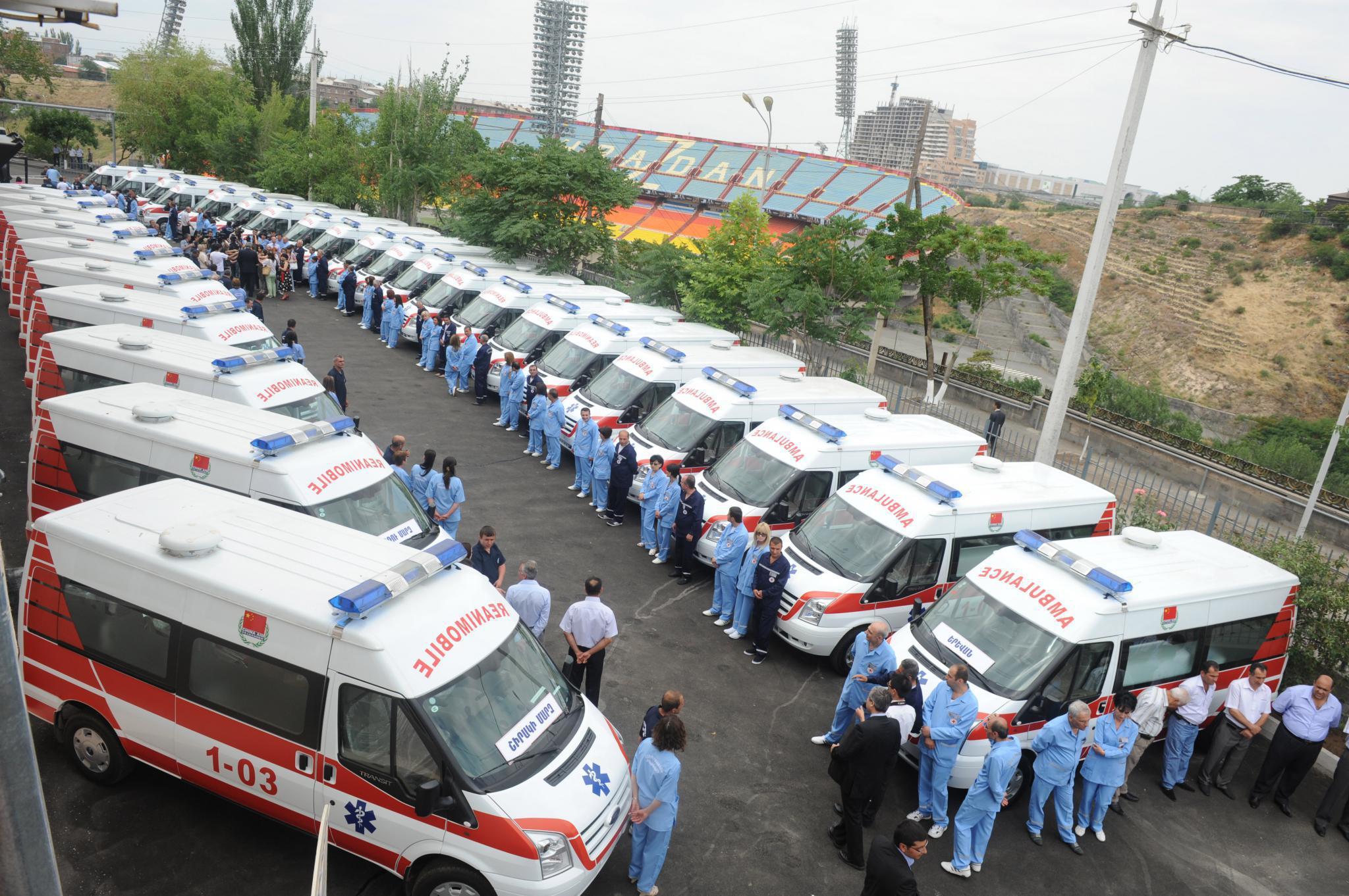 В Армению доставлена первая партия машин скорой помощи из Китая