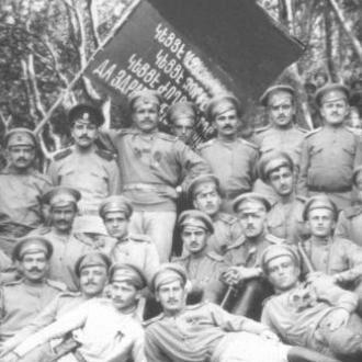 Конный отряд Левона Хзарджяна (участник оборонительных боёв в Западной Армении, в 1918 г. - один из руководителей самообороны Ахалциха)