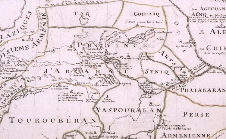 Историческая карта Арцаха