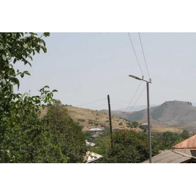 Освещение в приграничном селе Коти