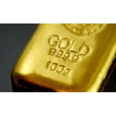 Золотой слиток с проставленной пробой